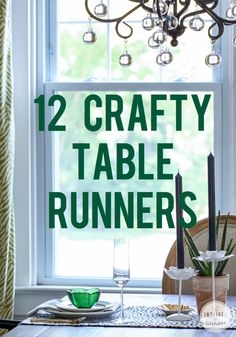 Decorating for Fall? Check out these 12 Crafty Table Runners!