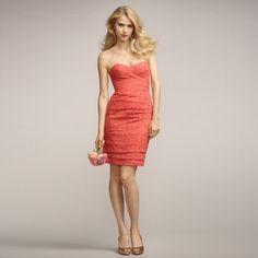 ブライズメイド・レースベアドレス。サンセットに映えるコーラルピンクのブライズメイドドレス。 #Bridesmaid #Dress #Pink #Lace #Wedding