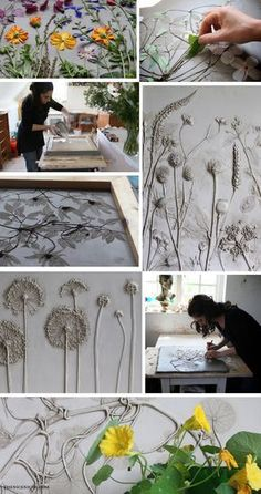 Rachel Dein, Tactile Studio this is soo cool. making imprints in clay and plaster casts Rachel Dein, Tactile Studio — The Nice Niche Art Concret, Concrete Art, Concrete Casting, Concrete Crafts, Concrete Projects, Concrete Garden, Clay Projects, Clay Crafts, Arts And Crafts