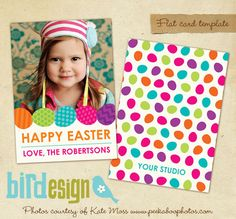 Easter Photocard - PSD Template - E334. $8.00, via Etsy.