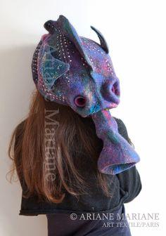 """Ariane Mariane - art textile - feutre d'art: Le projet """"Petite Sirène"""" avance / work for Little Mermais Project progresses"""