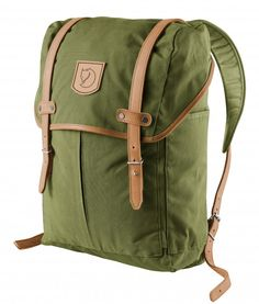 The Fjallraven Rucksack No.21 Medium Rucksack is a traditional style rucksack made from waxed cotton, with leather straps. This rucksack is built to last by the Swedish manufacturer Fjallraven.