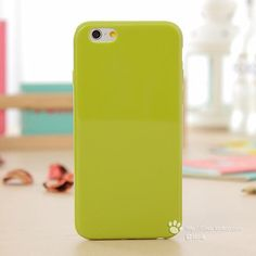 """Solid Candy Color TPU Rubber Case Cover for iPhone 6 iPhone 6S Silicone Case Glossy Back Cover for iPhone 6S 16 Colors 4.7"""""""