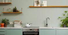 Bilderesultat for jotun lady grønn Jotun Lady, Paint Color Palettes, Bedroom Pictures, Kitchen Stories, Bedroom Green, Cuisines Design, Modern Kitchen Design, Floating Shelves, Interior Architecture