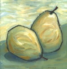 soft colors of pears