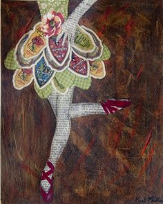 """""""Vintage Ballerina"""" by Kent Mullens on Watercolor paper. #graphic45 #DIY"""