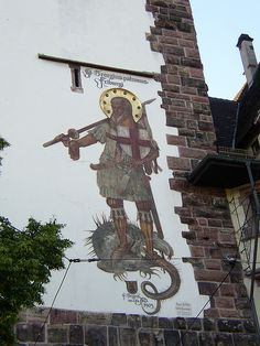 Freiburg, Germany ~ Very neat to find St. George on my exchange...but not as neat as when the church I got to changed it's name to St. George's!