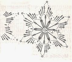 horgolt hópelyhek - Google keresés Crochet Snowflake Pattern, Crochet Stars, Christmas Crochet Patterns, Crochet Snowflakes, Crochet Doily Patterns, Crochet Diagram, Crochet Flowers, Crochet Stitches, Crochet Ornaments