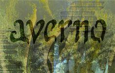 """""""Averno"""" Caligrafía manual escaneada con collage digital » Sara Álvarez del Máster en Diseño 2013-14"""