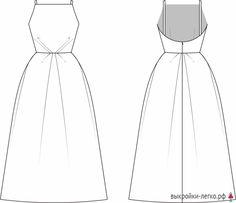 "Pattern dresses ""Orchid"" (r Look Fashion, Diy Fashion, Ideias Fashion, Fashion Dresses, Sewing Clothes, Diy Clothes, Fashion Sewing, Simple Dresses, Elegant Dresses"