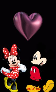 Mickey Mouse Pictures, Mickey Mouse Art, Mickey Mouse Wallpaper, Disney Phone Wallpaper, Disney Pictures, Cute I Love You, I Love You Images, Love You Gif, Beautiful Love Pictures