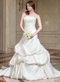 Wedding Dresses - $199.99 - A-Line/Princess Sweetheart Cathedral Train Satin Wedding Dress With Ruffle Lace Beading (002012819) http://jjshouse.com/A-Line-Princess-Sweetheart-Cathedral-Train-Satin-Wedding-Dress-With-Ruffle-Lace-Beading-002012819-g12819?la=email_newsletter_20140429_en_en&utm_source=NewsLetter&utm_campaign=NewsLetter_20140429_en_en?snsref=pt&utm_content=pt