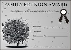 family reunion ideas | Family Reunion Certificates - Oak Passion 2 is a Free Family Reunion ... Family Reunion Activities, Family Feud, Family History, Friends Family, Reunion Invitations, Family Research, Family Affair, Family Traditions, As You Like
