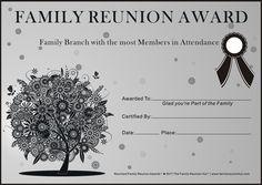 family reunion ideas | Family Reunion Certificates - Oak Passion 2 is a Free Family Reunion ...