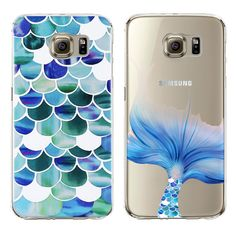 New Mermaid Style Transparent Soft Tpu Case For Samsung Galaxy Note 7 S7 Edge S6 S5 S4 Note 5 Case Silicone Fashion Cover Cases