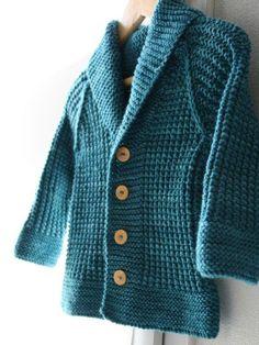 Oscar is back ! Shawl Collar Cardigan, Cardigan Pattern, Knitting Patterns Boys, Unicorn Pattern, Knitted Shawls, Baby Love, Lana, Knit Crochet, Men Sweater