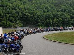 "Deals Gap, aka ""Tail of The Dragon"" - Tennessee and North Carolina - 318 turns in 11 miles, favorite place to ride"