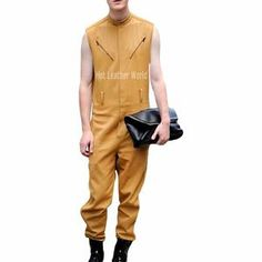 95e853c88cd Cool Style Leather Jumpsuit For Men
