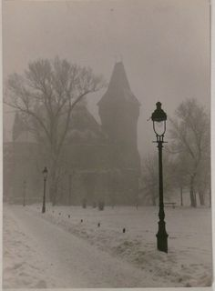 firsttimeuser: Vajdahunyad's castle by Gyula Holics Beautiful World, Simply Beautiful, Seasons Of The Year, Winter Is Coming, Winter Wonderland, Mists, Cool Pictures, Castles, Black And White