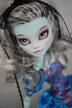 Monster High Frankie Stein OOAK Repaint Tulah | eBay by brandiwine