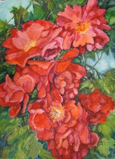 "For Sale: Abundance by Sandy Bennett | $250 | 22""w 30""h | Original Art | https://www.arttwo50.com/buy/art/abundance"