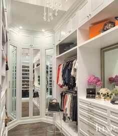 Merveilleux Three Way Mirror Created By Mirrored Closet Doors. Styled This Closet.