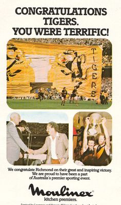 1980 premiers Richmond Football Club, Tigers, Victorious, Strong, Australia, Ads, Baseball Cards, Sports, Beginning Sounds