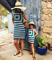 Audrey Dress - free any size crochet pattern by Snakewood & Grace.