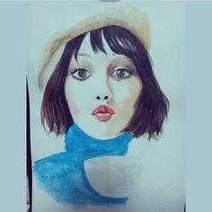 """#frenchgirl  Follow the artist:  @silapeh  #artbotic #artist #art #"" Photo taken by @artbotic on Instagram, pinned via the InstaPin iOS App! http://www.instapinapp.com (07/16/2015)"