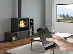 Wood stoves with IHS SmartControl by Seguin
