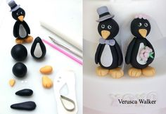 Penguin by Verusca Walker #diy #crafts www.BlueRainbowDesign.com