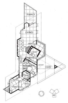 House 712 by h arquitectes house plans by h and triangles for House plans jackson ms