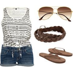 Beach outfit, created by lissyvegas on Polyvore
