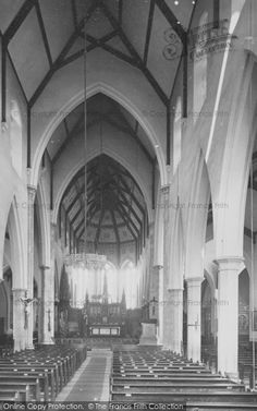 Plymouth, Rc Cathedral, Nave East 1889, from Francis Frith