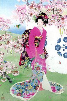 i love geisha prints like these Japanese Painting, Chinese Painting, Chinese Art, Art Geisha, Japan Kultur, Art Chinois, Art Asiatique, Art Japonais, Japanese Prints
