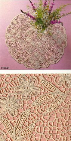 Fiber Art Reflections: Romanian Point Lace Crochet Table Cloth