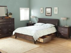 """The Bedroom gallery (www.thebedroomgallery.com) Presents:  The solid alder """"Pacific"""" Collection from Whittier Wood. Features Include full extension drawer glides and dovetailed drawer boxes. No particle board or MDF In this set!"""