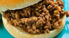 This recipe is a really simple, quick, and tasty Sloppy Joe. I make this on the stovetop, but you can also let this simmer in a slow cooker after browning the ground beef, if you prefer.