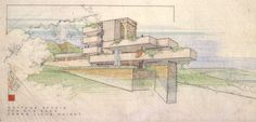 Wright's Unbuilt Projects | polis: Echoes of Falling Water in Wright's Unbuilt Projects