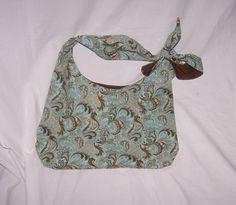 Hobo purse fabric handmade purse  adjustable tie by lisalynnitems