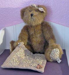 BOYDS BEAR WITH BLANKET BROWN FLOWERED TRIM RETIRED 1988 2008 in Dolls & Bears, Bears, Boyds   eBay