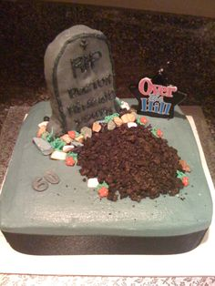 Over the Hill 50th Birthday cake My Sweet Creations Saras