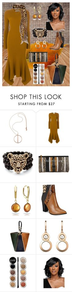 """""""Fall Spice"""" by trescrwndgg ❤ liked on Polyvore featuring Lauren Ralph Lauren, Victoria Beckham, Palm Beach Jewelry, Nicole Lee, DaVonna, ALDO, Mulberry, Chopard, Giorgio Armani and WithChic"""