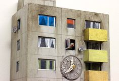 Go Cuckoo for These Brutalist 'Block Clocks' Inspired by Concrete Landmarks
