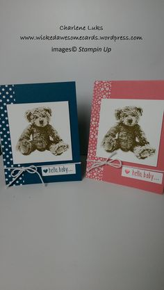 WickedAwesomeCards.wordpress.com    Stampin Up; Baby Bear Stamp Set