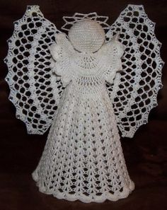 I want to learn how to crochet so I can make this angel for the top of my Christmas tree!