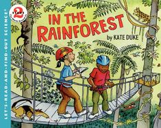 In the Rainforest (Let's-Read-and-Find-Out Science 2) by Kate Duke http://www.amazon.com/dp/0064451976/ref=cm_sw_r_pi_dp_IA6jub1P3BD9W