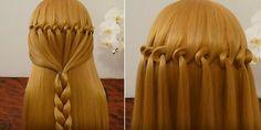Bucle de la cascada de la trenza Peinado (2)