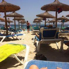Nyder #sol og #strand med Mads og Peter på #Mallorca #palmanova 😃☀️☀️