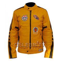 Kill Bill Uma Thurman Movie Biker Leather Jacket